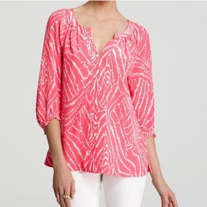 Lilly Pulitzer Show Your Stripes Moxy Silk Blouse